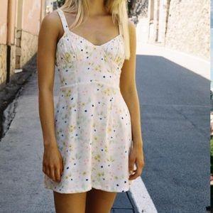 With jean dress
